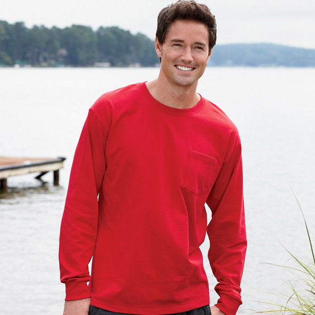 8600-2XLT - Long Sleeve Pocket T-Shirt-Made in the U.S.A.