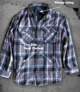 6130 - Sherpa Lined Flannel Shirt
