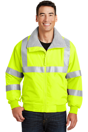 SRJ754 - Port Authority® - Safety Challenger Jacket with Reflective Taping-XS-6XL