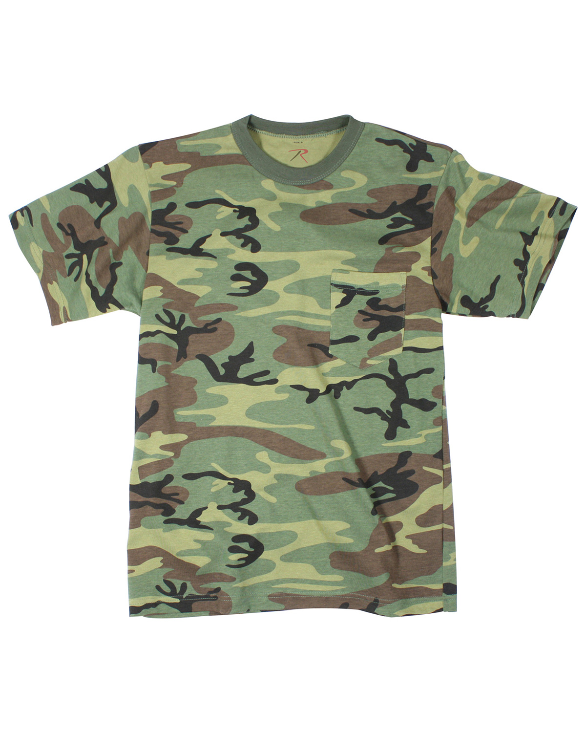 6667 - Woodland Camouflage Pocket T-Shirt