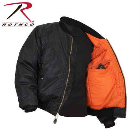 77350 - Black Concealed Carry MA-1 Flight Jacket