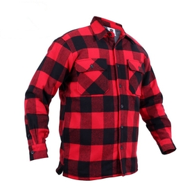 3739 - Extra Heavyweight Buffalo Plaid Sherpa-lined Flannel Shirts