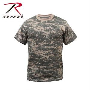 6376 - Camouflage T-Shirt-S-3XL-Blue-Red-Desert